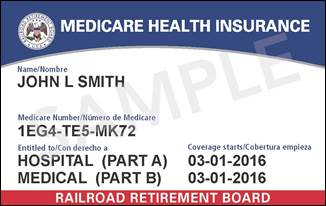 New Railroad Medicare Card