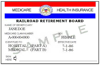 Railroad Medicare Card