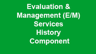 Evaluation and Management Services History Component