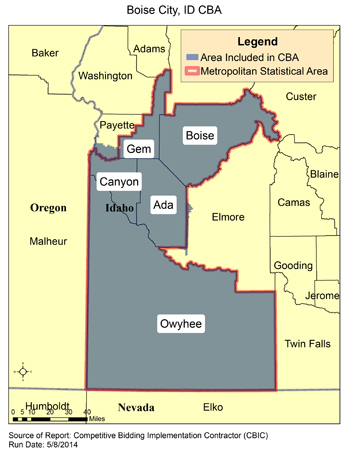 Ada Ok Zip Code Map.Cbic Round 2 Recompete Competitive Bidding Area Boise City Id