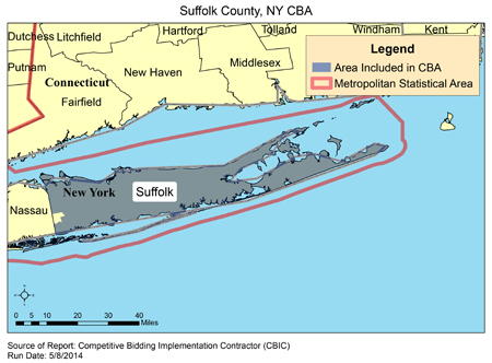 Suffolk County New York Map.Cbic Round 2 Recompete Competitive Bidding Area Suffolk County